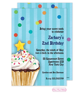 Sprinkles And Confetti (Blue) Invitation