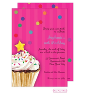 Sprinkles And Confetti (Pink) Invitation