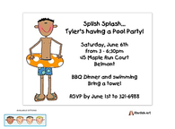 Swim Party Boy Invitation