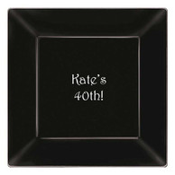 "Personalized 9.25"" Square Plastic Plates"