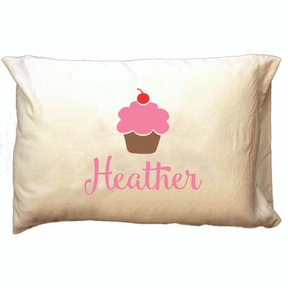 Personalized Pillowcase - Cupcake