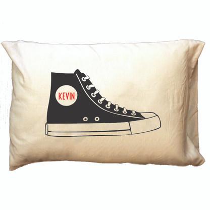 Personalized Pillowcase - Black Hi-Top