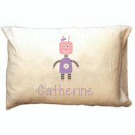 Personalized Pillowcase - Robot Girl