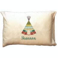 Personalized Pillowcase - Chevron Tee Pee