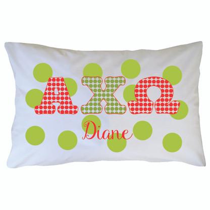 Personalized Greek Pillowcase - Alpha Chi Omega