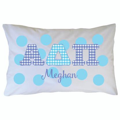 Personalized Greek Pillowcase - Alpha Delta Pi