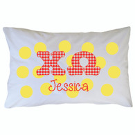 Personalized Greek Pillowcase - Chi Omega