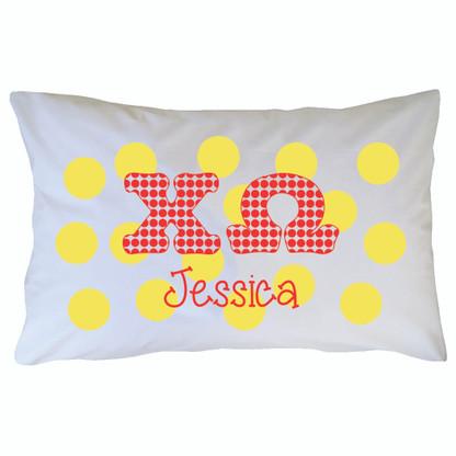 Personalized Greek Pillowcase - Chi Omega