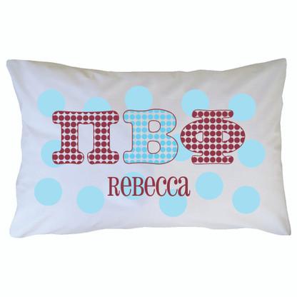 Personalized Greek Pillowcase - Pi Beta Phi