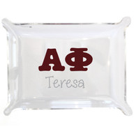 Personalized Greek Lucite Small Tray - Alpha Phi