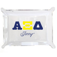 Personalized Greek Lucite Small Tray - Alpha Xi Delta
