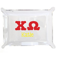 Personalized Greek Lucite Small Tray - Chi Omega