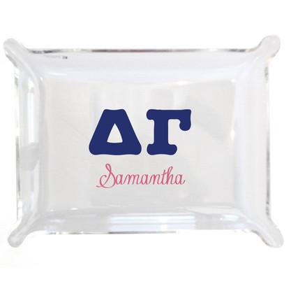 Personalized Greek Lucite Small Tray - Delta Gamma