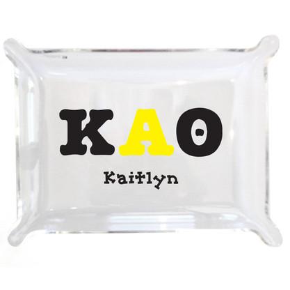 Personalized Greek Lucite Small Tray - Kappa Alpha Theta
