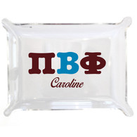 Personalized Greek Lucite Small Tray - Pi Beta Phi