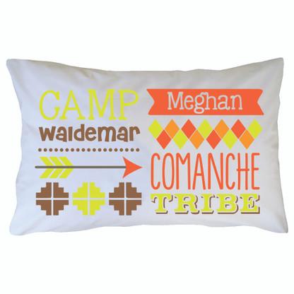 Personalized Camp Waldemar Pillowcase - Comanche