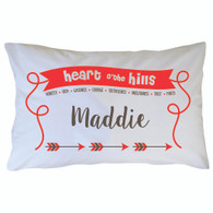 Personalized Camp Heart of the Hills Pillowcase