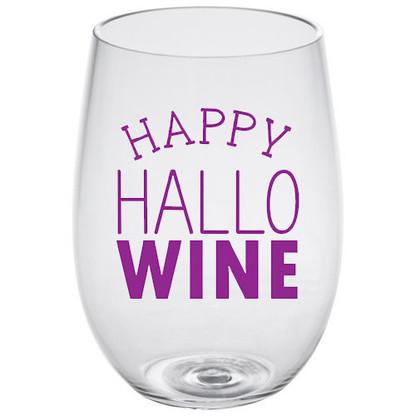 HalloWine Lucite Stemless Wine Glass
