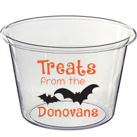 Lucite Halloween Candy Bucket - Treats