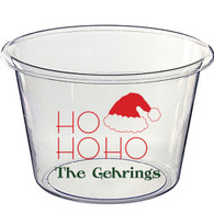 Personalized Lucite Christmas Beverage Bucket - Ho Ho Ho, Rogers Font