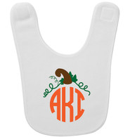Personalized Fall Pumpkin Monogram Bib