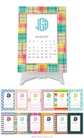 Personalized Preppy Desktop Calendar by Boatman Geller