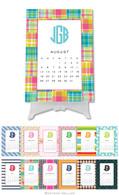 Personalized Preppy Desktop Calendar by Boatman Geller