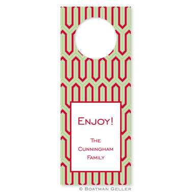 Personalized Blaine Cherry Holiday Wine Tag