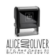 Alice Return Address Stamp