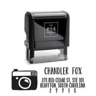 Camera Return Address Stamp