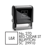 Leander Return Address Stamp