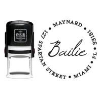 Personalized Bailie Return Address Stamp