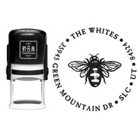 Personalized Bee Return Address Stamp