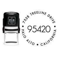 Personalized Big Zip Return Address Stamp