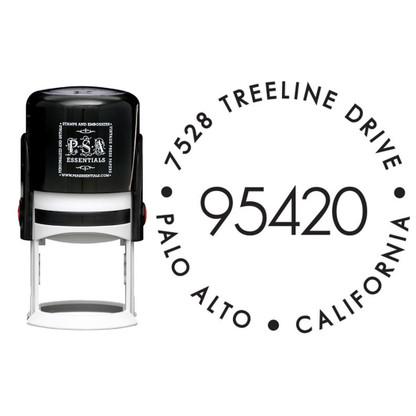 Personalized Big Zip Return Address Stamp