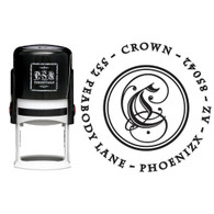 Personalized Crown Return Address Stamp