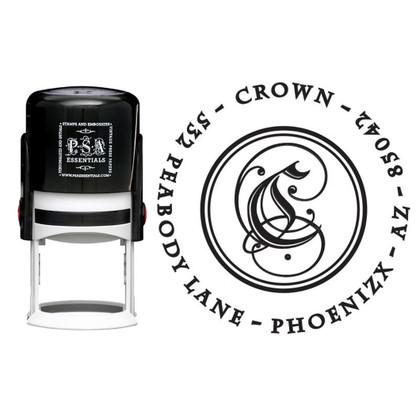 Personalized Crown Return Address Stamp