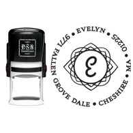 Personalized Evelyn Return Address Stamp