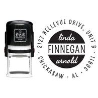 Personalized Finnegan Return Address Stamp
