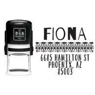 Personalized Fiona Return Address Stamp