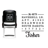 Personalized Fisher Return Address Stamp