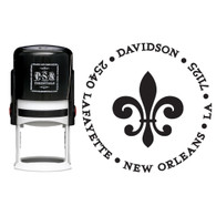 Personalized Fleur De Lis Return Address Stamp