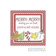Christmas Cookie Holiday Gift Sticker