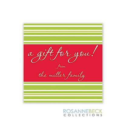 Deck The Halls Holiday Gift Sticker