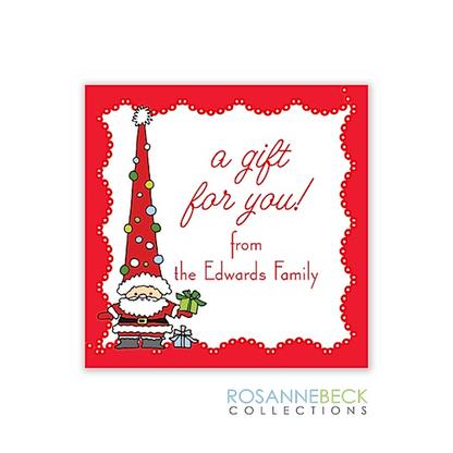 Funky Santa Holiday Gift Sticker