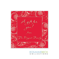 Pretty Paisley Holiday Gift Sticker