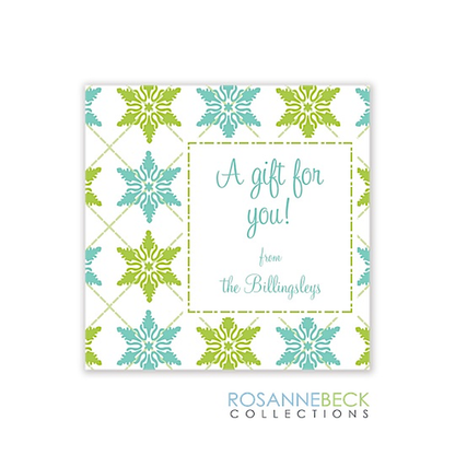 Winter Crystals Holiday Gift Sticker