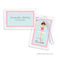 Ballerina Laminated Bag Tag