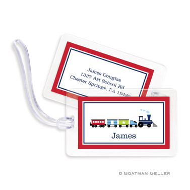 Choo Choo Train Laminated Bag Tag