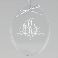 Paris Monogram Oval Ornament